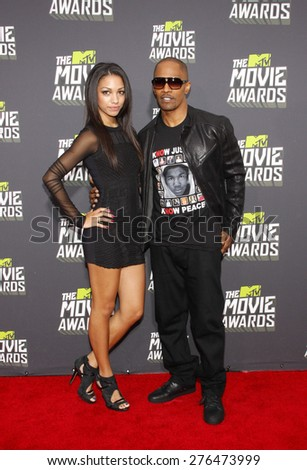 Jamie Foxx at the 2013 MTV Movie Awards held at the Sony Pictures Studios in Los Angeles, United States, 140413.