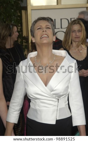 JAMIE LEE CURTIS at the 61st Annual Golden Globe Awards at the Beverly Hilton Hotel, Beverly Hills, CA. January 25, 2004