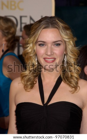 Jan 16, 2005; Beverly Hills, CA: KATE WINSLET at the 62nd Annual Golden Globe Awards at the Beverly Hilton Hotel. - stock photo