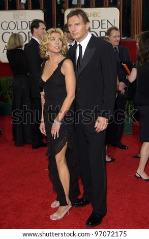 Jan 16, 2005; Beverly Hills, CA: LIAM NEESON & NATASHA RICHARDSON at the 62nd Annual Golden Globe Awards at the Beverly Hilton Hotel.