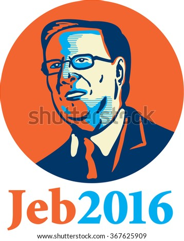"""Jan. 26, 2016: Caricature illustration showing Bernard """"Bernie"""" Sanders, American Senator, elected politician and Democrat presidential candidate standing and words Bernie 2016 done caricature style. - stock photo"""