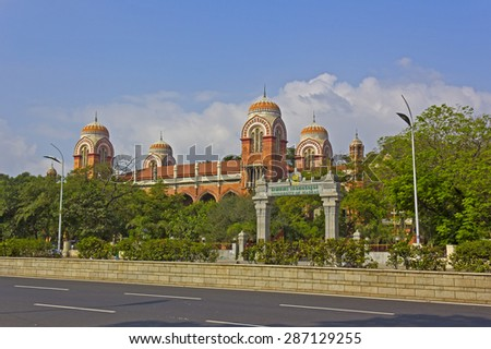 JAN 30, 2015, CHENNAI, TAMIL NADU, INDIA - Building of the Madras University
