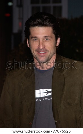 Jan 23, 2005; Los Angeles, CA: Actor PATRICK DEMPSEY at ABC TV's All Star Party on the Desperate Housewive lot at Universal Studios, Hollywood. - stock photo