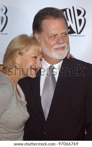 Jan 10, 2005; Los Angeles, CA:  Actress HELEN MIRREN & husband director TAYLOR HACKFORD at the 10th Annual Critcs' Choice Awards at the Wiltern Theatre, Los Angeles. - stock photo