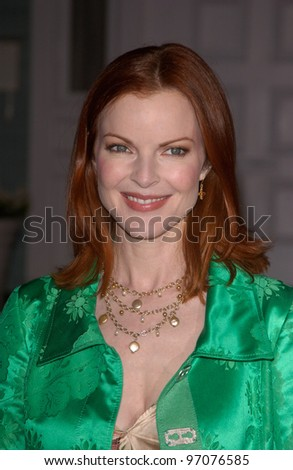Jan 23, 2005; Los Angeles, CA: Desperate Housewives star MARCIA CROSS at ABC TV's All Star Party on the Desperate Housewive lot at Universal Studios, Hollywood. - stock photo