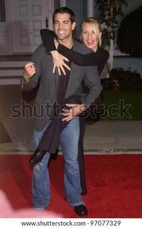 Jan 23, 2005; Los Angeles, CA: Desperate Housewives stars NICOLETTE SHERIDAN & JESSE METCALFE at ABC TV's All Star Party on the Desperate Housewive lot at Universal Studios, Hollywood.