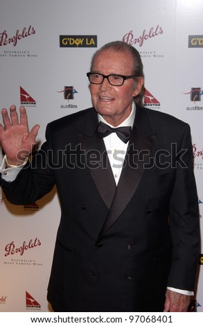 Jan 15, 2005; Los Angeles, CA:  JAMES GARNER at the G'Day LA Penfolds Gala honoring Australian talent. - stock photo