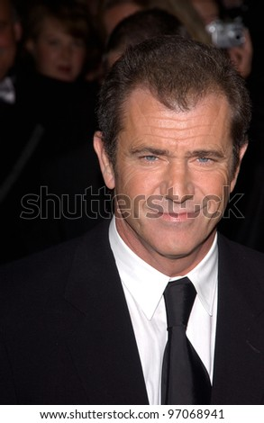 Jan 15, 2005; Los Angeles, CA:  MEL GIBSON at the G'Day LA Penfolds Gala honoring Australian talent. - stock photo