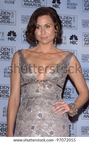 Jan 16, 2005; Los Angeles, CA: MINNIE DRIVER at the 62nd Annual Golden Globe Awards at the beverly Hilton Hotel. - stock photo