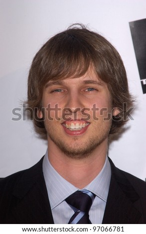 Jan 10, 2005; Los Angeles, CA:  Napoleon Dynamite star JON HEDER at the 10th Annual Critcs' Choice Awards at the Wiltern Theatre, Los Angeles. - stock photo