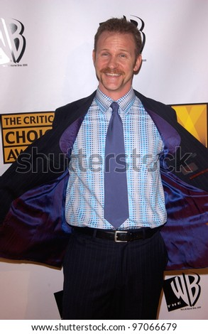 Jan 10, 2005; Los Angeles, CA:  Supersize Me documentary filmmaker MORGAN SPURLOCK at the 10th Annual Critcs' Choice Awards at the Wiltern Theatre, Los Angeles. - stock photo
