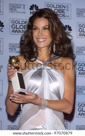 Jan 16, 2005; Los Angeles, CA: TERI HATCHER at the 62nd Annual Golden Globe Awards at the beverly Hilton Hotel. - stock photo