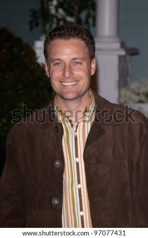 Jan 23, 2005; Los Angeles, CA: The Bachelor/Bachelorette host CHRIS HARRISON at ABC TV's All Star Party on the Desperate Housewive lot at Universal Studios, Hollywood. - stock photo