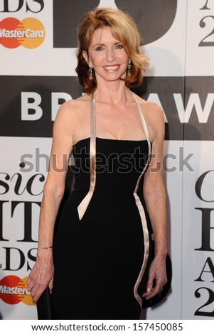 Jane Asher arrives for the Classic Brit Awards 2013 at the Royal Albert Hall, London. 02/10/2013 - stock photo