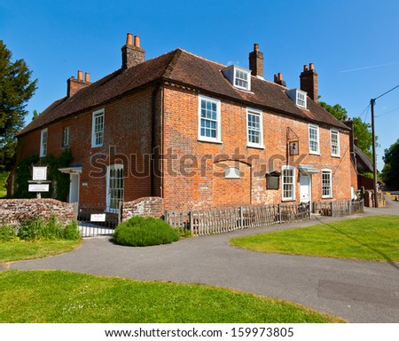 Jane Austen's House Museum in Chawton, England - stock photo
