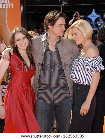 Jane Carrey, Jim Carrey, Jenny McCarthy at Premiere of HORTON HEARS A WHO!, Mann's Village Theatre in Westwood, Los Angeles, CA, March 08, 2008