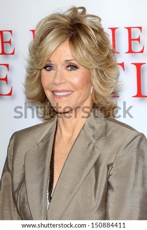 "Jane Fonda at ""Lee Daniels' The Butler"" Los Angeles Premiere, Regal Cinemas, Los Angeles, CA 08-12-13 - stock photo"