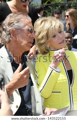 Jane Fonda at the Jennifer Lopez Star on the Walk of Fame ceremony, Hollywood, CA 06-20-13