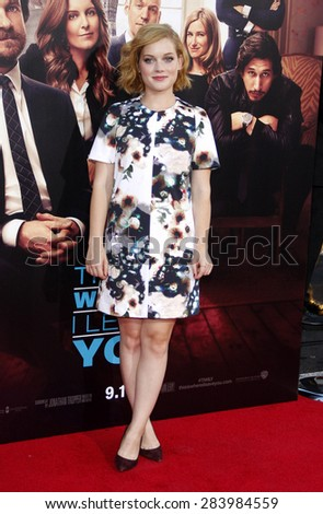 Jane Levy at the Los Angeles premiere of 'This Is Where I Leave You' held at the TCL Chinese Theatre in Los Angeles on September 15, 2014 in Los Angeles, California.  - stock photo