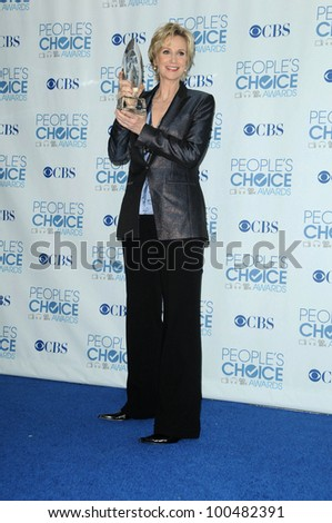 Jane Lynch at the 2011 People's Choice Awards - Press Room, Nokia Theatre, Los Angeles, CA. 01-05-11