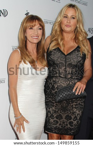 "Jane Seymour and Jennifer Coolidge at the ""Austenland"" Los Angeles Premiere, Arclight, Hollywood, CA 08-08-13"