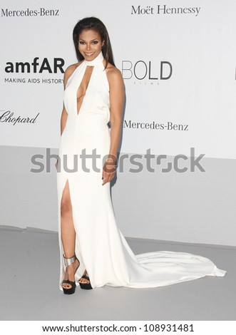 Janet Jackson arriving for AmfAR's Cinema Against Aids gala 2012 during the 65th annual Cannes Film Festival Cannes, France. 24/05/2012 Picture by: Henry Harris / Featureflash - stock photo