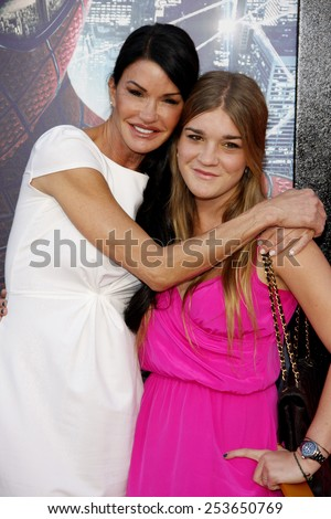 "Janice Dickinson and Savannah Dickinson at the Los Angeles premiere of ""The Amazing Spider-Man"" held at the Westwood Village Theater in Los Angeles, California, United States on June 28, 2012."