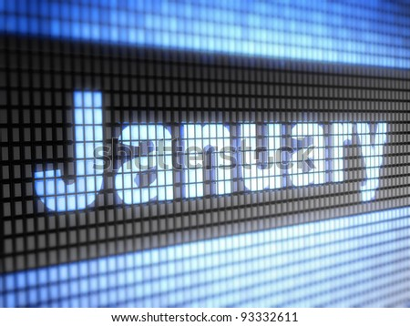 January. Calendar
