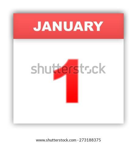 January 1. Day on the calendar. 3d - stock photo