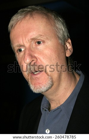 "January 20, 2005. James Cameron at the ""Aliens of the Deep"" Premiere held at Universal CityWalk IMAX Theatre Universal City, California."