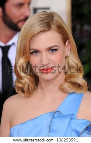 January Jones at the 66th Annual Golden Globe Awards. Beverly Hilton Hotel, Beverly Hills, CA. 01-11-09 - stock photo