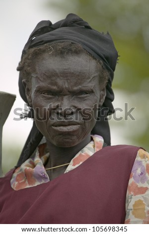 JANUARY 2007 - Kenyan women stand in line to get health checkup for HIV/AIDS at the Pepo La Tumaini Jangwani, HIV/AIDS Community Rehabilitation Program, Orphanage & Clinic. - stock photo