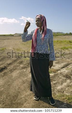 JANUARY 2007 - Khadija Rama, founder of Pepo La Tumaini Jangwani, HIV/AIDS Community Rehabilitation Program, Orphanage & Clinic.  Nairobi, Kenya, Africa - stock photo