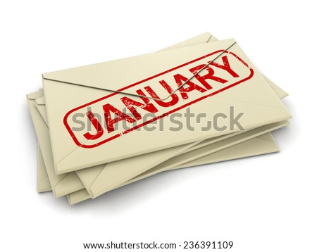 January letters  (clipping path included)