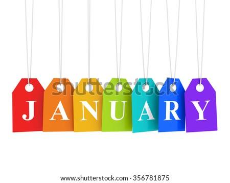 January sales - stock photo