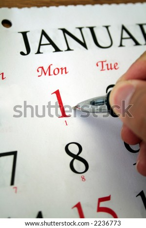 January 1st Calendar - stock photo