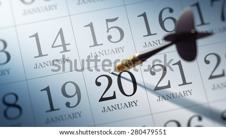 January 20 written on a calendar to remind you an important appointment.
