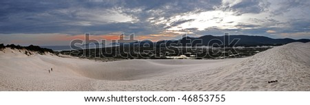 Jaoquina beach dunes, Florianopolis, Santa Catarina, Brasil - stock photo