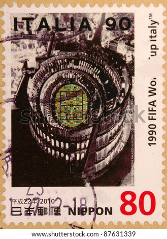 JAPAN - CIRCA 2000: A stamp printed in japan shows Italian Wrestling, circa 2000
