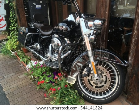 Japan December 28 2016 Motorcycle Harley Stock Photo Royalty Free