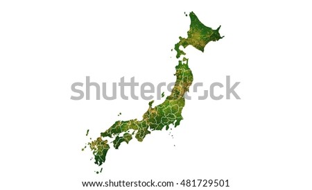 Japan detailed country map visualization