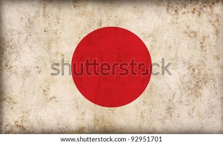 Japan flag background - stock photo