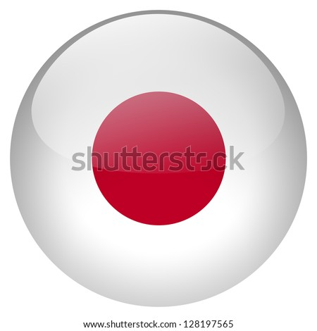 Japan flag button - stock photo