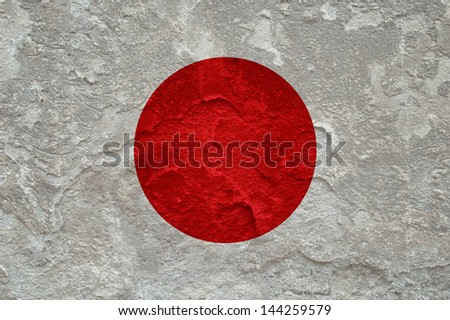Japan flag on grunge background