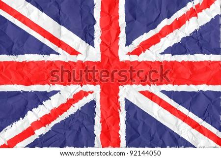 japan grunge flag on wrinkled paper background - stock photo