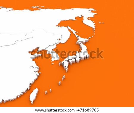 Philippines Map Orange Background D Rendering Stock Illustration - Japan map 3d
