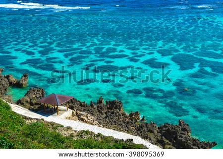 Japan Miyako Island in Okinawa - stock photo