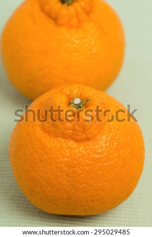 Japan Orange named dekopon.
