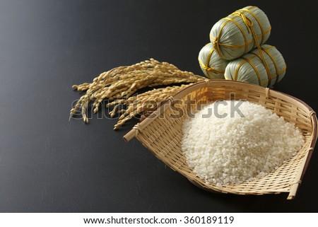 Japan rice image - stock photo