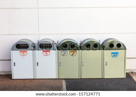 Japan's sort bins. - stock photo